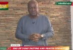 Mahama's Message At NDC's Service To End 3-Day Fasting And Prayer Against Coronavirus