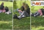 VIDEO: Furious mum confronts shameless couple doing the unthinkable in front children