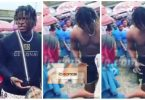 VIDEO: Lady disgraces and strips boyfriend at the market after seeing him with another lady