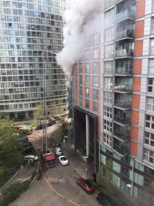 The fire broke out at a block of flats in Fairmont Avenue, Poplar, (Picture: James Veysey/Shutterstock)