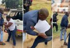 Love triangle turns ugly as couple undress each other in the streets over cash