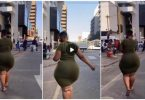 SA lady with 100GB of natural 'nyash' causes massive commotion on the streets